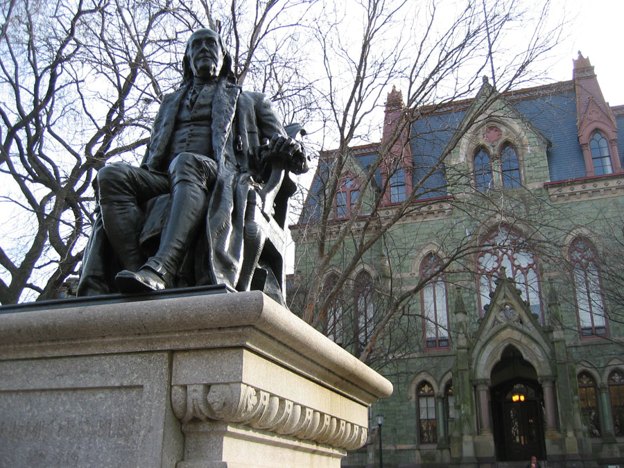 15. Benjamin Franklin statue at UPenn
