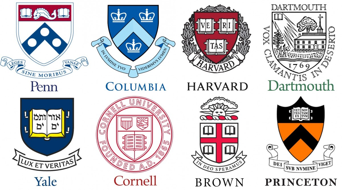 name the top 10 ivy league schools